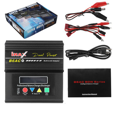 Coupone for B6AC Plus 80W 6A Smart Balance Charger for LiPo LiHv Lilon LiFe NiCd NiMH Battery