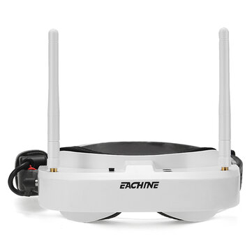 Coupone for Eachine EV100 720*540 5.8G 72CH FPV Goggles With Dual Antennas Fan 7.4V 1000mAh Battery For RC Drone