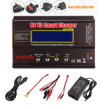Coupone for B6 V3 80W 6A Lipo Battery Balance Charger Discharger Upgrade Version with Power Supply Adapter
