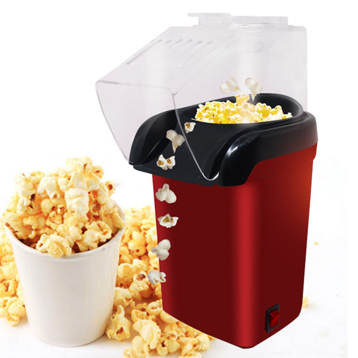 Mini Household Healthy Hot Air Oil-free Popcorn Maker Home Kitchen Machine Tools Bread Maker