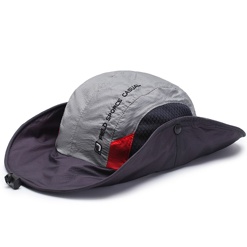 Mens Foldable Breathable Bucket Hat With String Outdoo
