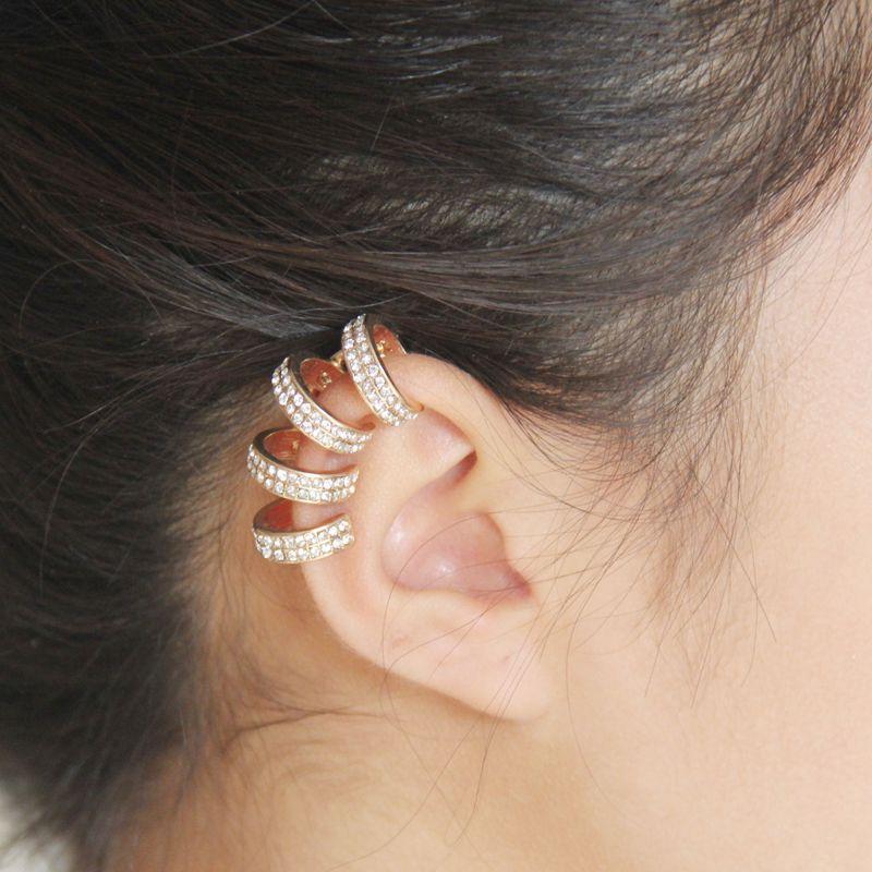Fashion No Piercing Ear Clip Women's Earring Shiny Diam