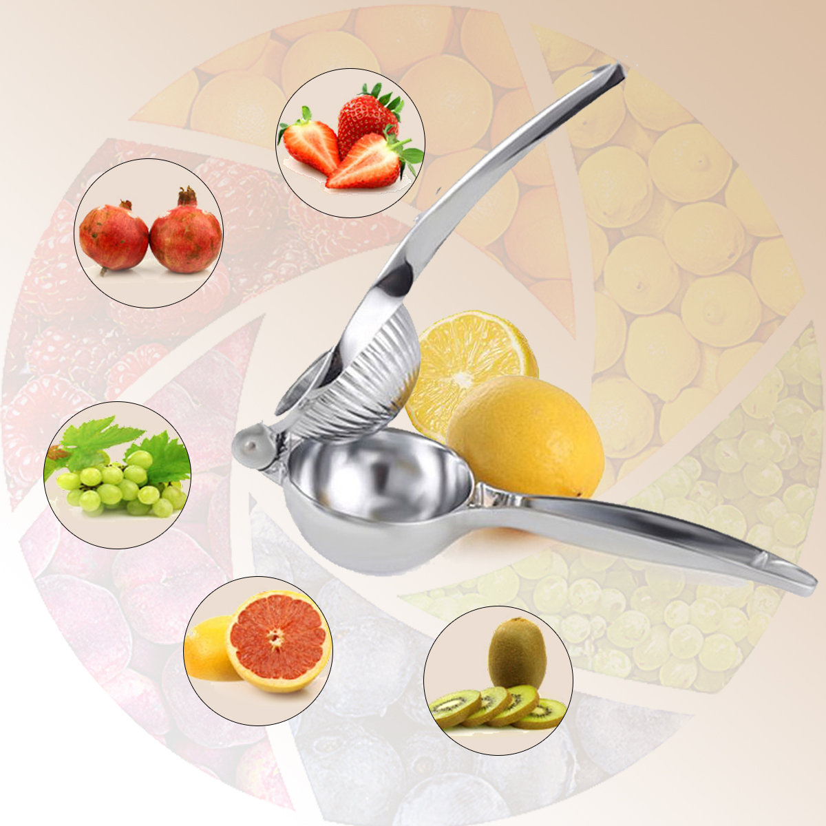 Kitchen Manual Juicer Hand For Lemon Stainless Steel Squeezer Tool Easy Press