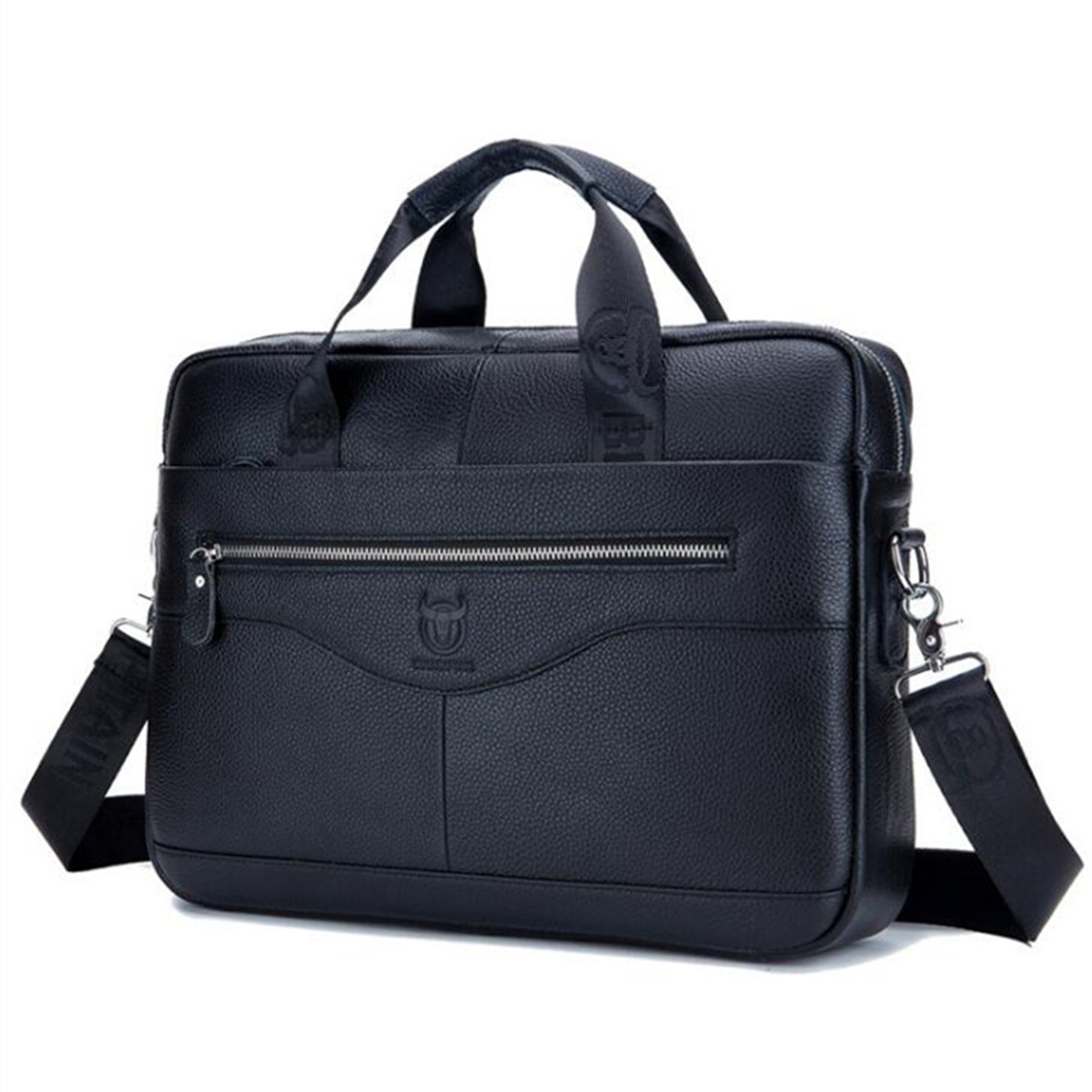 Men Genuine Leather Shoulder Bag Business Travel Crossb