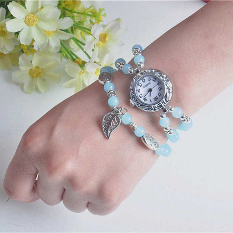 National Style Circular Small Dial Women Simple Vintage