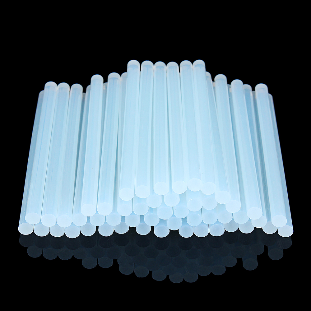 50Pcs 11mm x 200mm White Transparent Hot Melt Gule Sticks DIY Craft Model Repair Adhesive