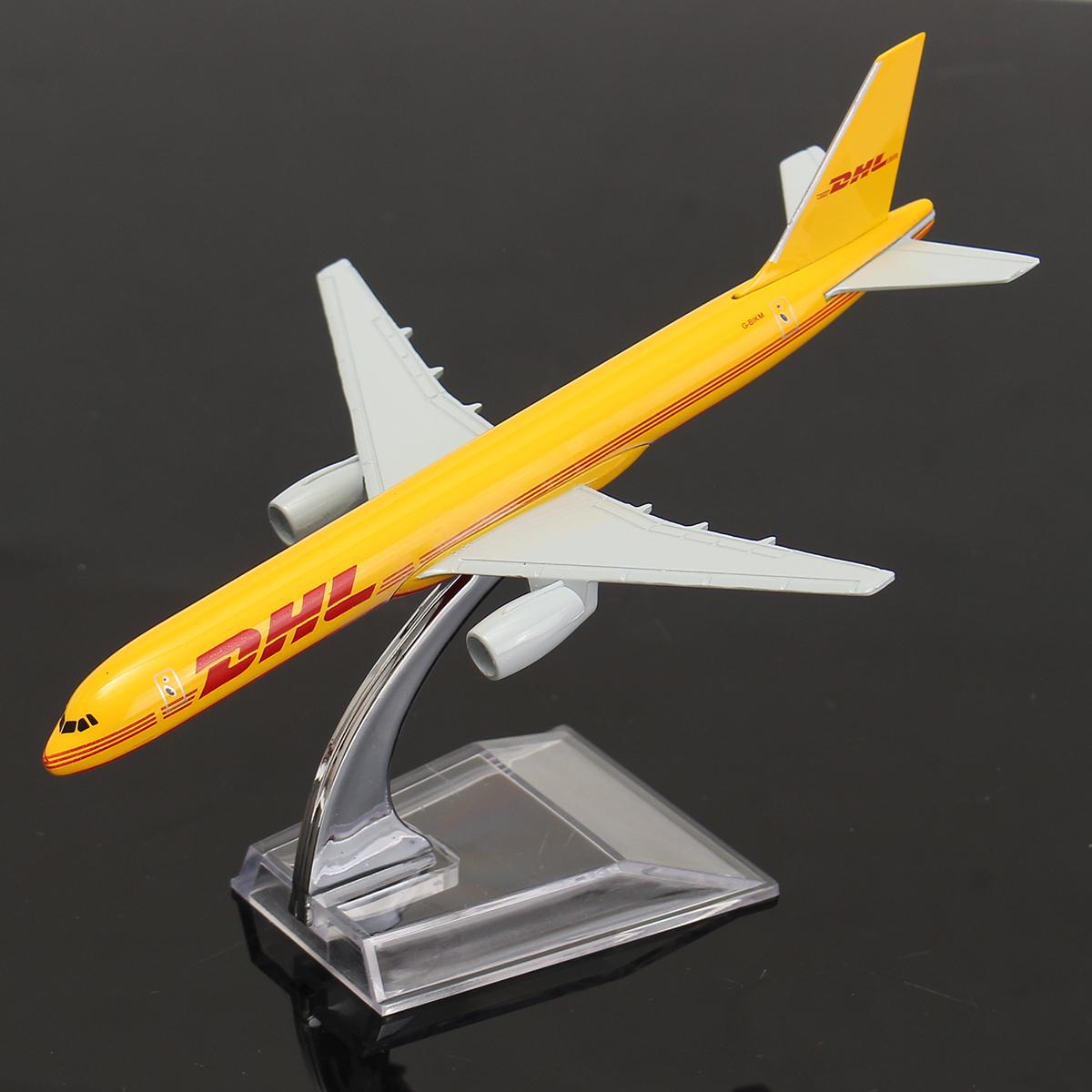 Airplane 16cm Metal Plane Model Aircraft B757 DHL Kargo