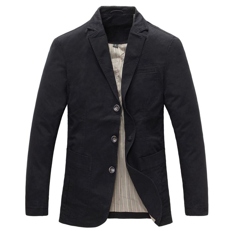 Casual Business Big Pockets Suit Collar Cotton Blazer J