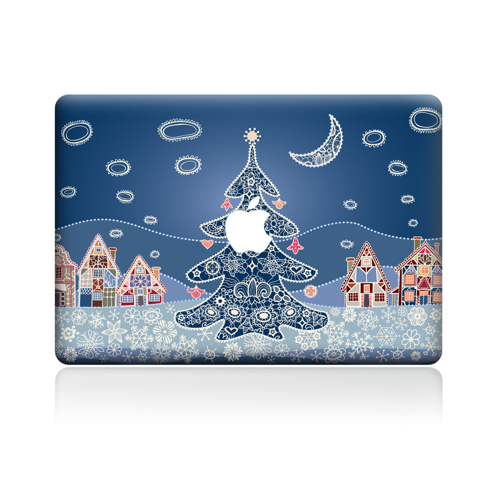 Christmas apple pro air laptop case laptop Sticke