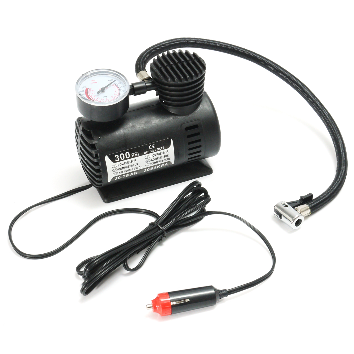 DC 12V 300Psi Portable Air Compressor Pump Tyre Inflato