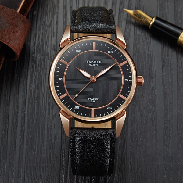 YAZOLE 398 Quartz Watch Luminous Simple Style Men Busin