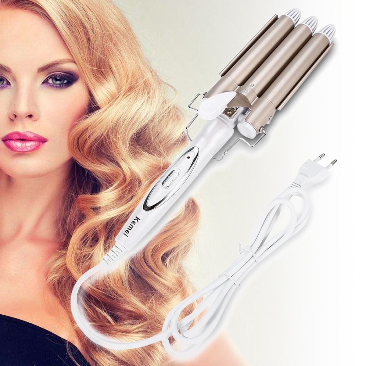 Kemei High Quality Professional Hair Curling Iron