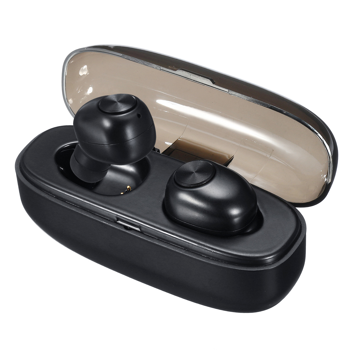 [bluetooth 5.0] TWS Wireless Earbuds Noise Cancelling Bilateral Calls IPX5 Waterproof Earphone with Charging Box
