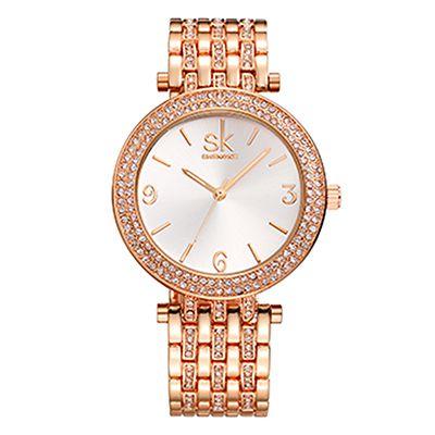 SK K0011 Luxury Women Crystal Bracelet Watches Accessor