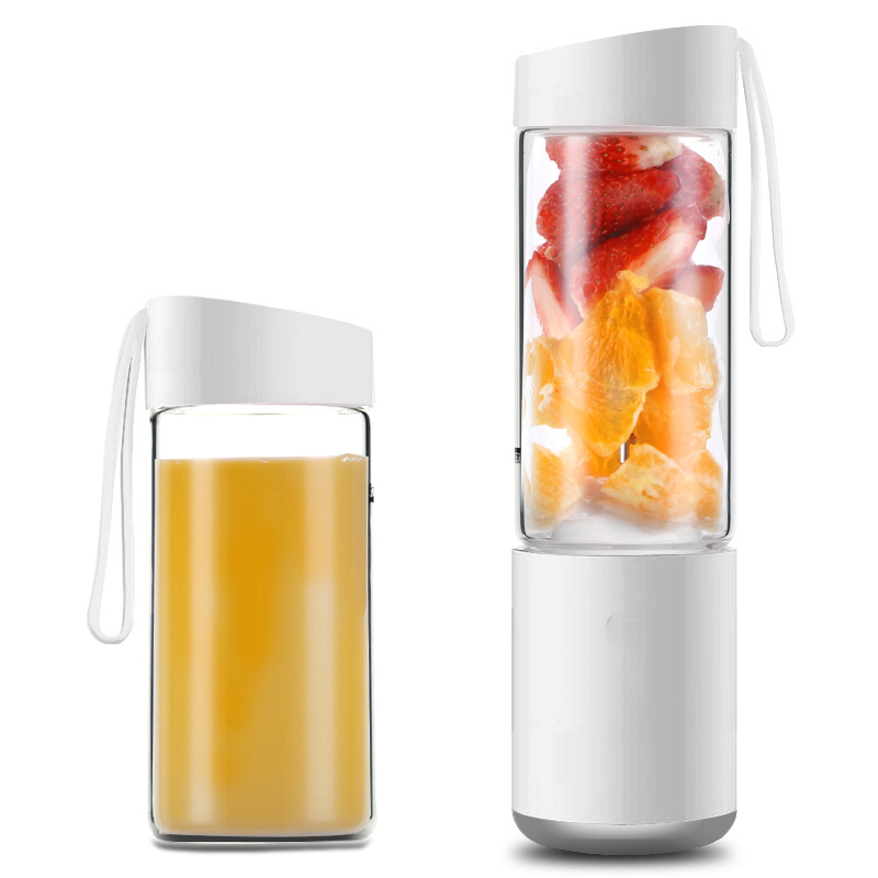 Minleaf ML-EJ2 250ml 60W USB Juicer with Dual Cups Kitchen Portable Electric Fruit Juicer Mixer