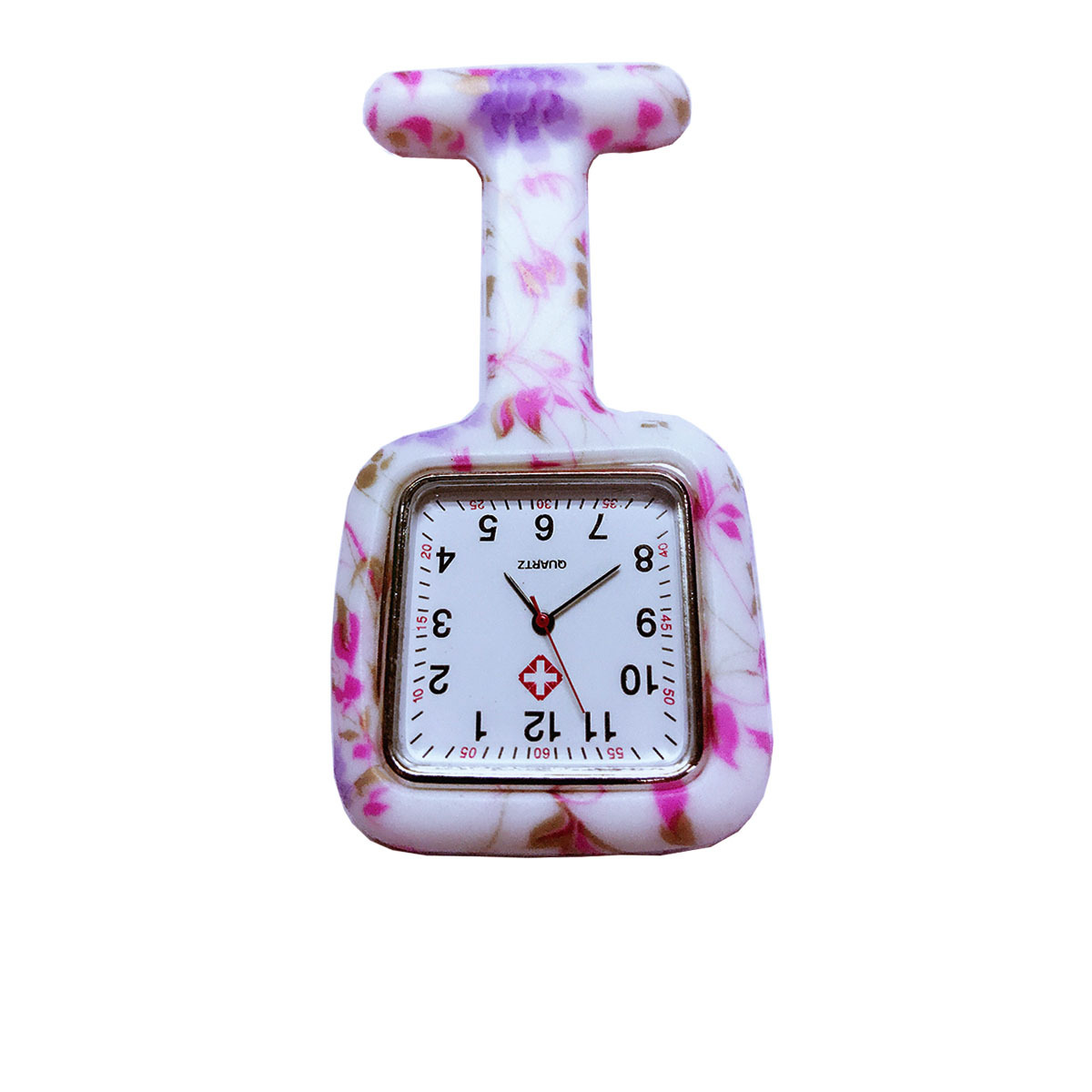 Rubber Square Clip Nurse Watches Multicolor Doctor Pock