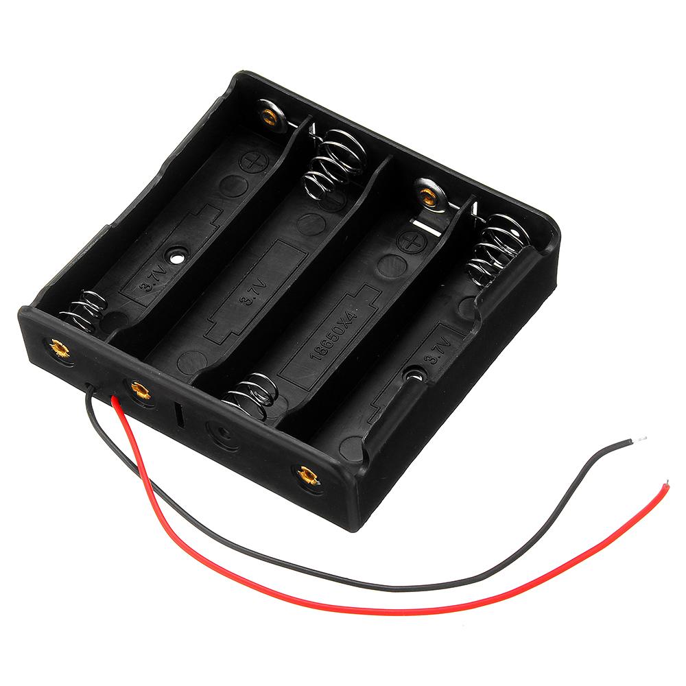Plastic Battery Storage Case Box Holder For 4