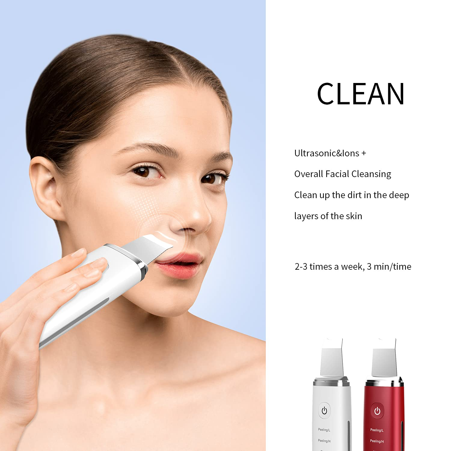 Find PerfectClassy Face Spatula Wireless Rechargeable Blackhead Remover IPX6 Pore Cleaner for Sale on Gipsybee.com