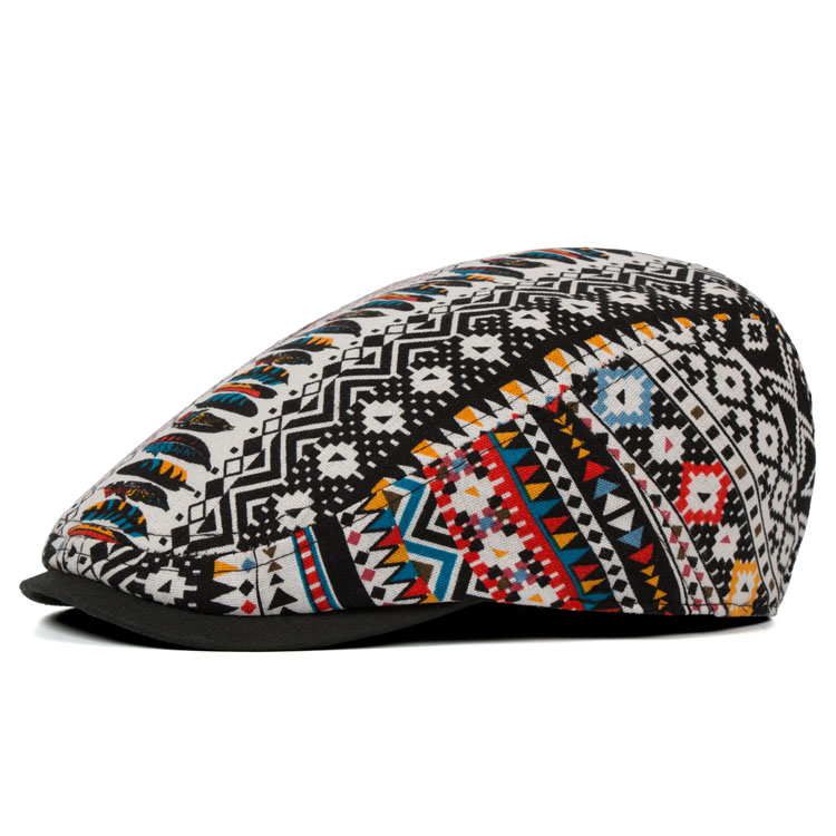 Ethnic Style Cotton And Linen Thin Breathable Visor Hat Vintage Chinese Style Cap Beret Caps