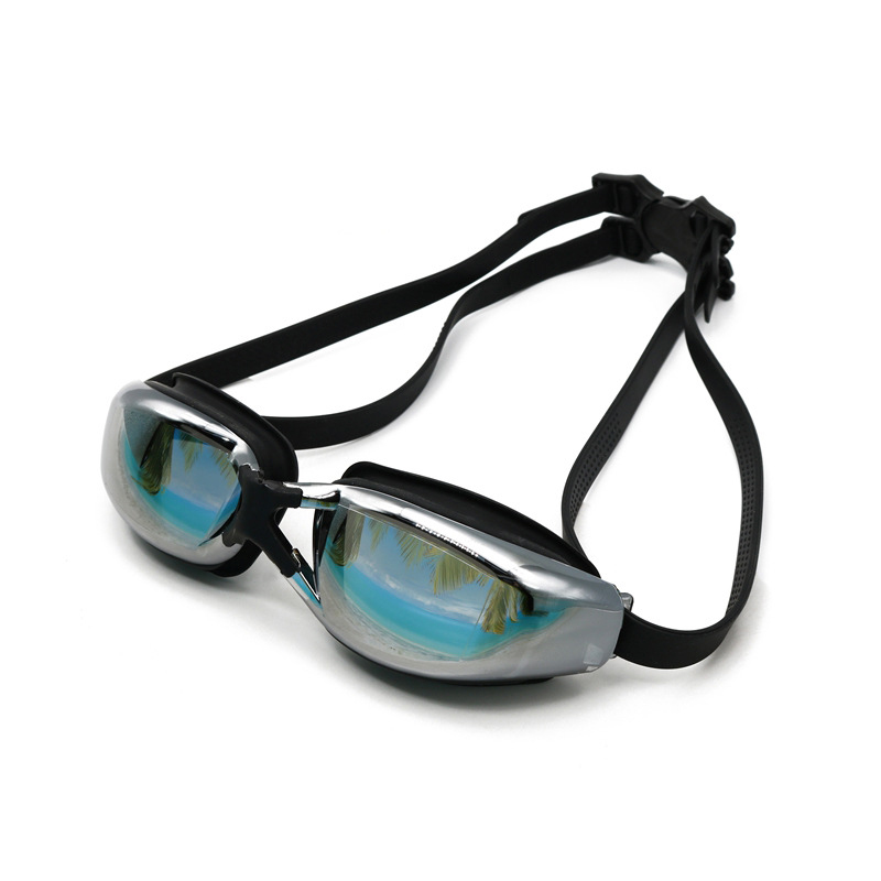 Myopia Goggles Plating HD Flat Light Anti-fog Silicone