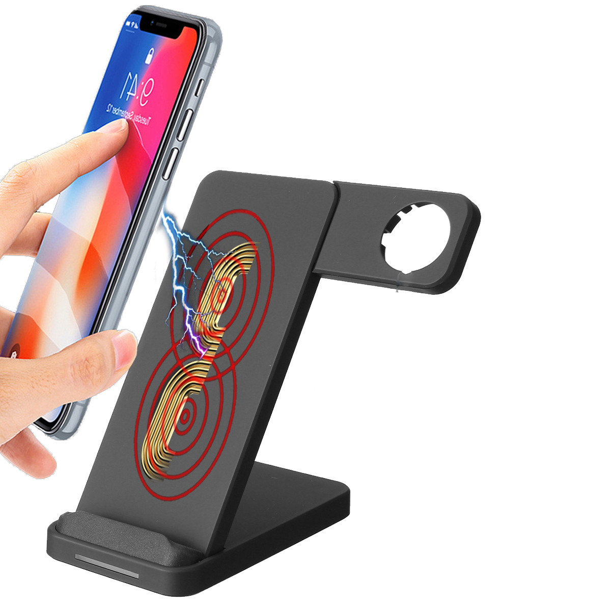 10W Dual Coils Qi Wireless Charger Fast Charging +