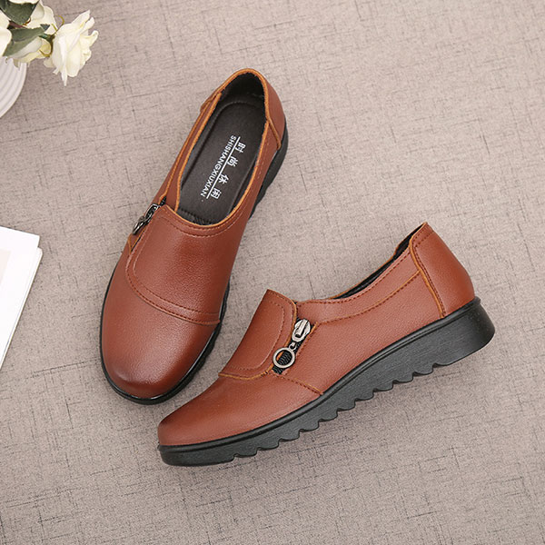 Women-Casual-Leather-Slip-On-Outdoor-Flat-Loafers thumbnail 9