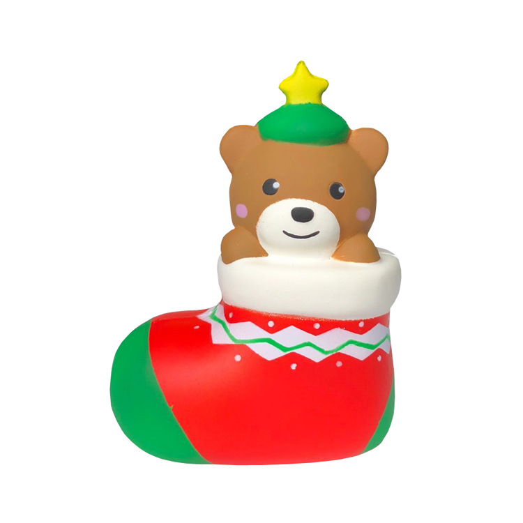 Christmas Gift Squishy Footwear Bear 13.5CM Cute Decora