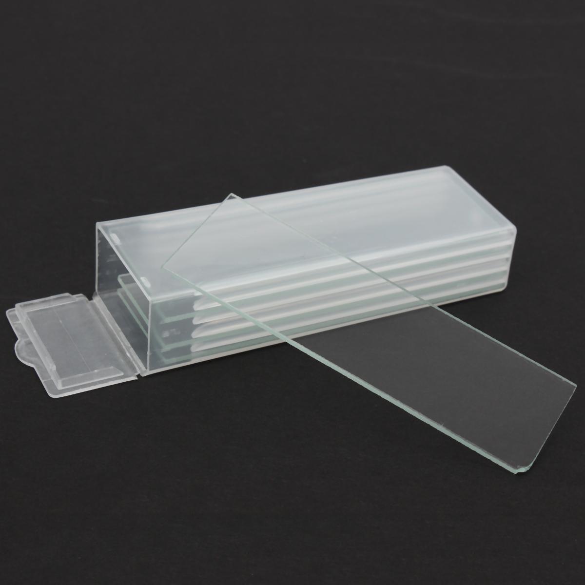 5pcs Single Concave Microscope Glass Slides Reusable Laboratory Blank 1mm