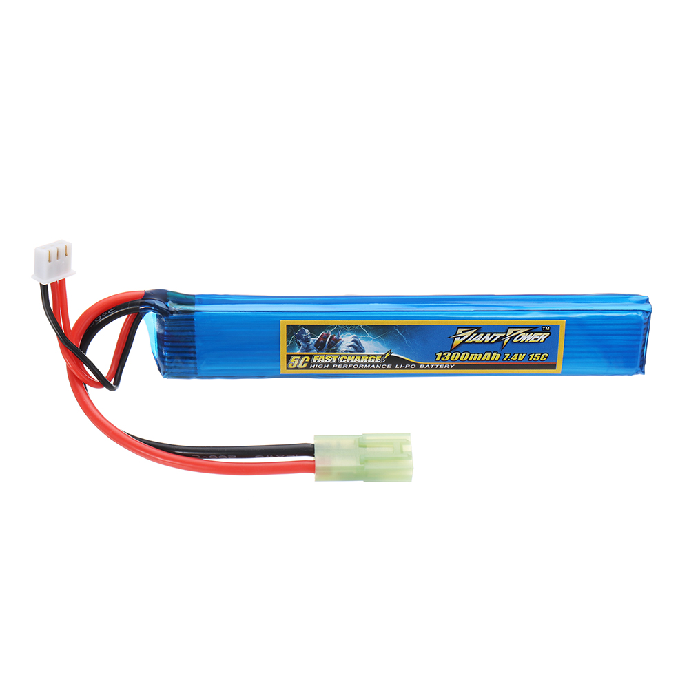 Giant Power 7.4V 1300mAh 2S 15C LiPo Battery AIRSOFT Pa