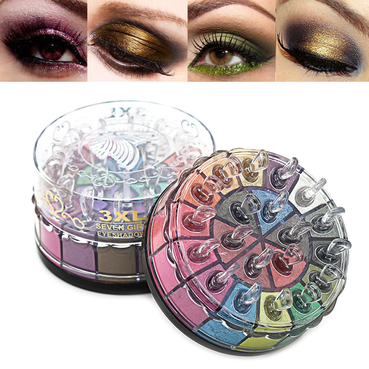 20 Colors Shimmer Eyeshadow Palette Glitter Smoky