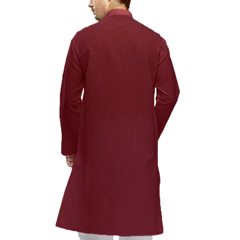Men's Cotton Kurta Kaftan Dress Shirts Tunic Party Wear