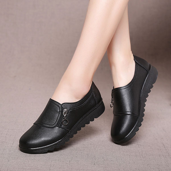 Women-Casual-Leather-Slip-On-Outdoor-Flat-Loafers thumbnail 6