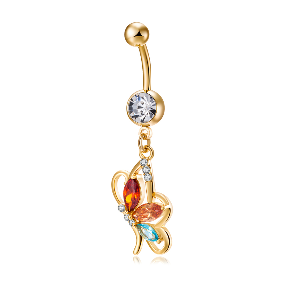 Sexy Butterfly Belly Rings Fashion Body Jewelry Colorfu