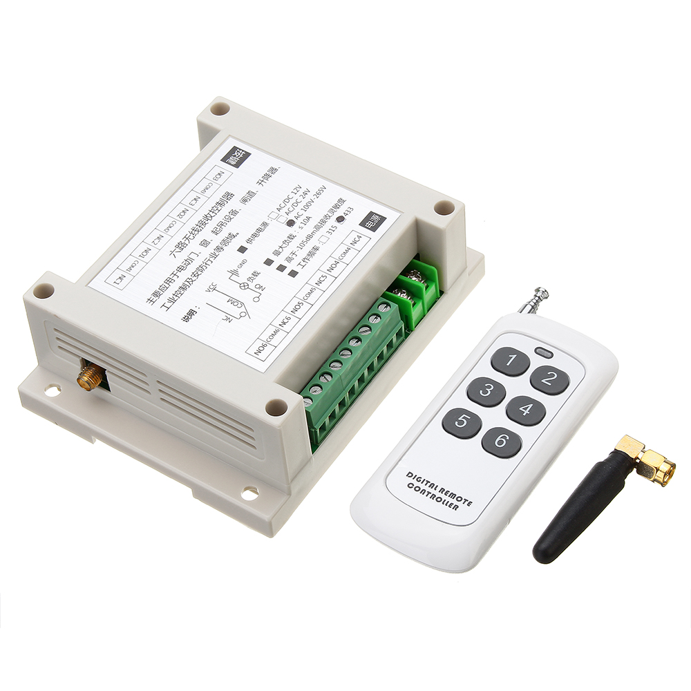 433MHz AC 220 6 Channel Wireless Remote Contr