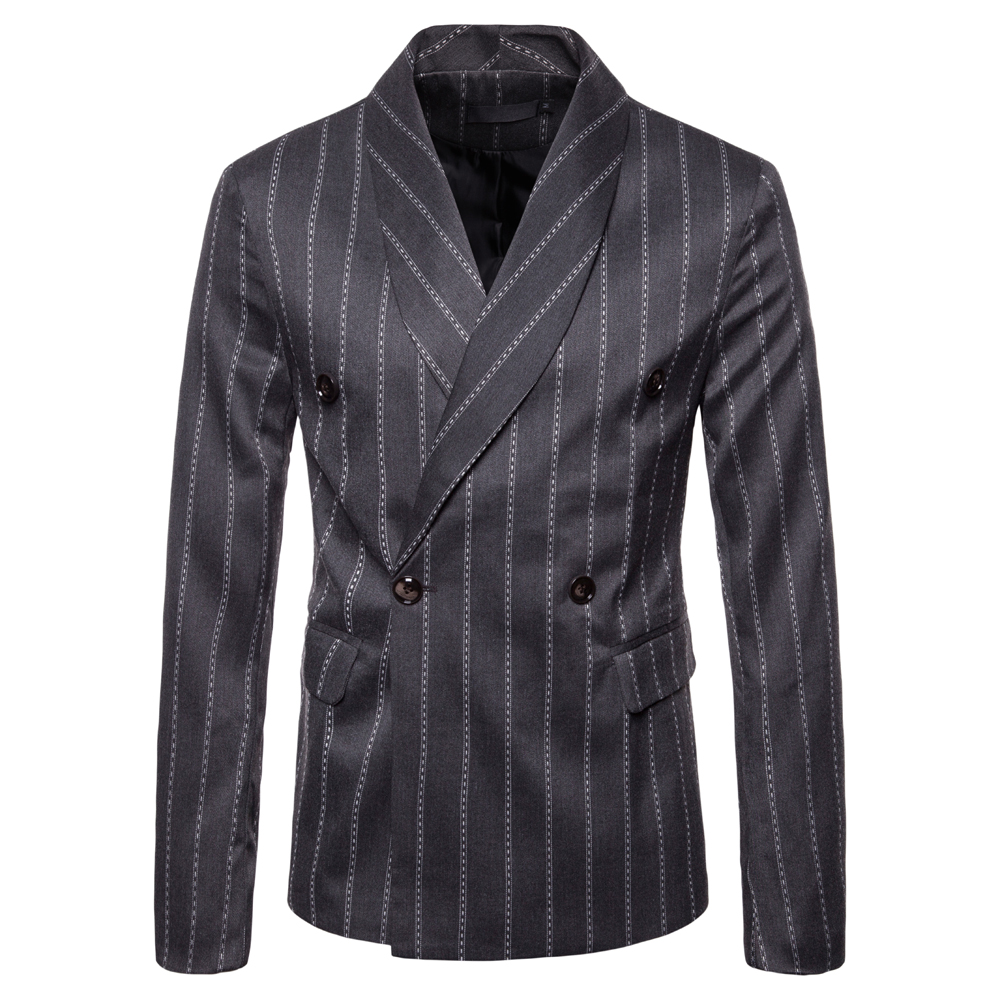 Stripe Printing Fashion Blazers Suit Coats for Men