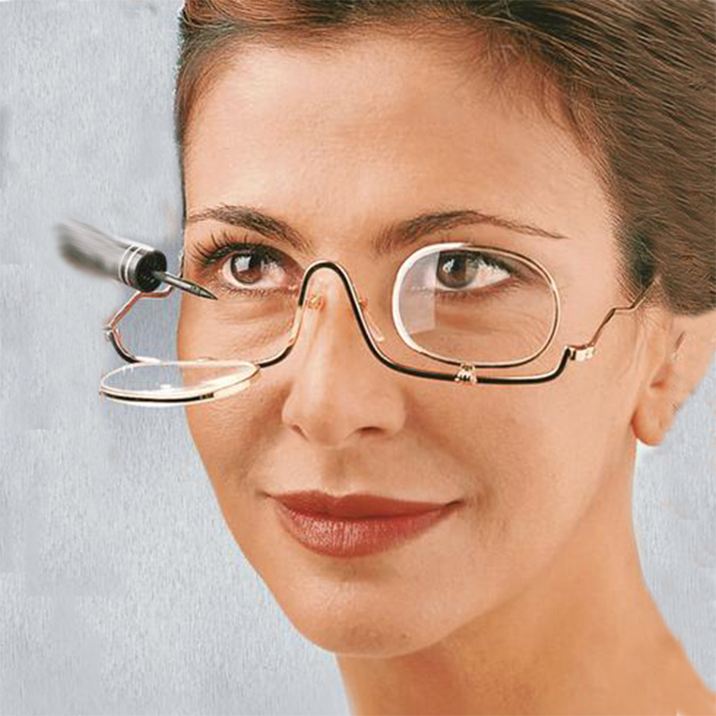 Women Adjustable Magnifying Makeup Reading Glasses Enla