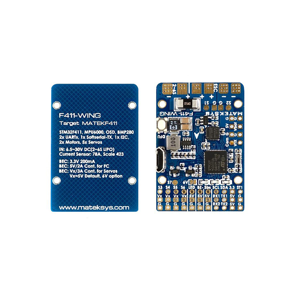 Matek Systems F411-WING (New) STM32F411 Flight Controll