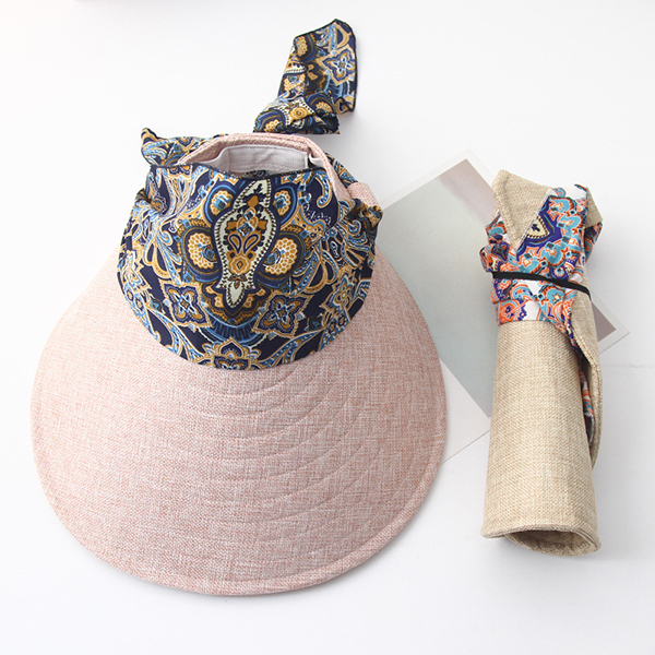Women Summer Wide Brim Sun Bucket Hat Foldable Anti-UV