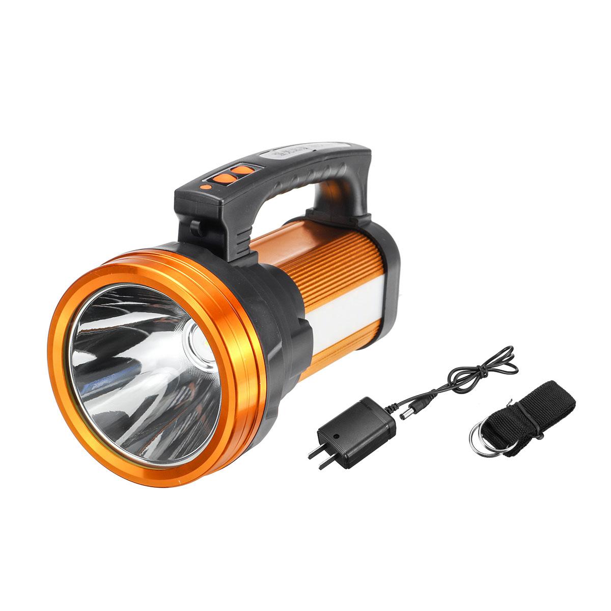 10000mah Camping Led Searchlight Rechargeable Flashlight Spotlight