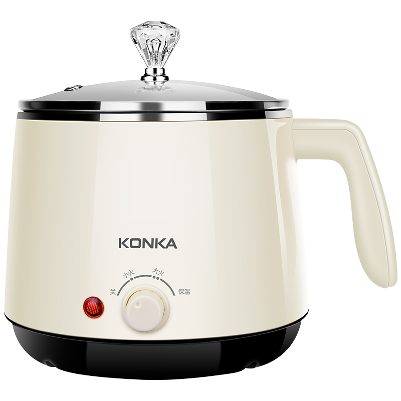 KONKA 220V 600W Multifunction Electric Rice Cooker Cooking Machine Hot Pot 304 Stainless Steel Inner