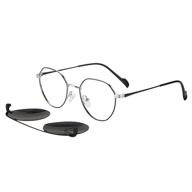 Man Clip-on Dual-use Polarized Anti-UV Magnet Set Removable Sunglasses