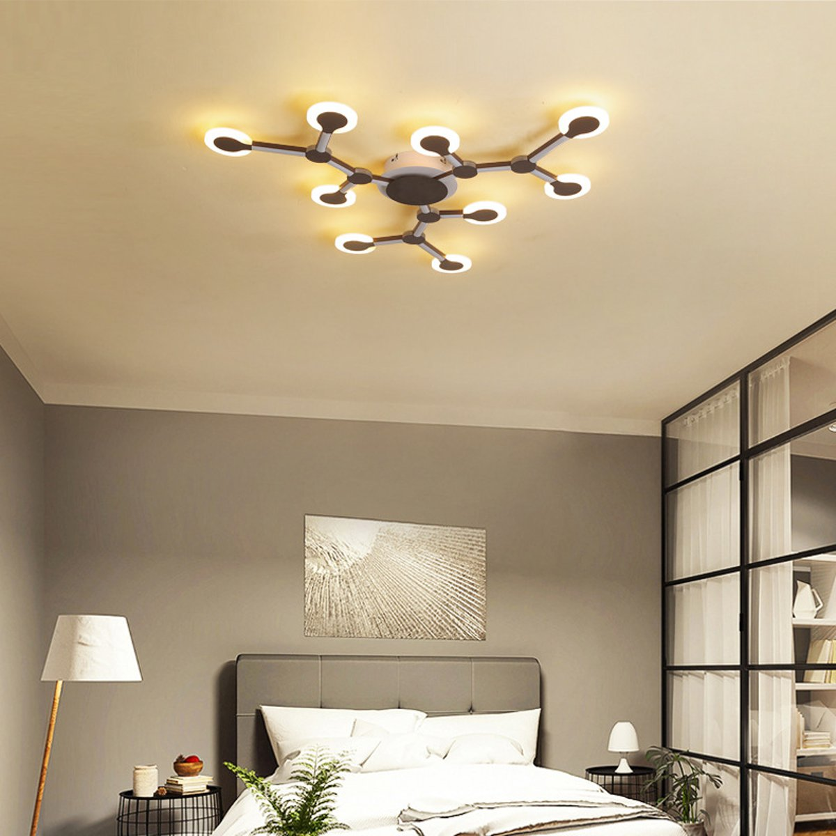 Banggood price history to 9 Heads Acrylic LED Ceiling Light Pendant Lamp Hallway Bedroom Dimmable Fixture