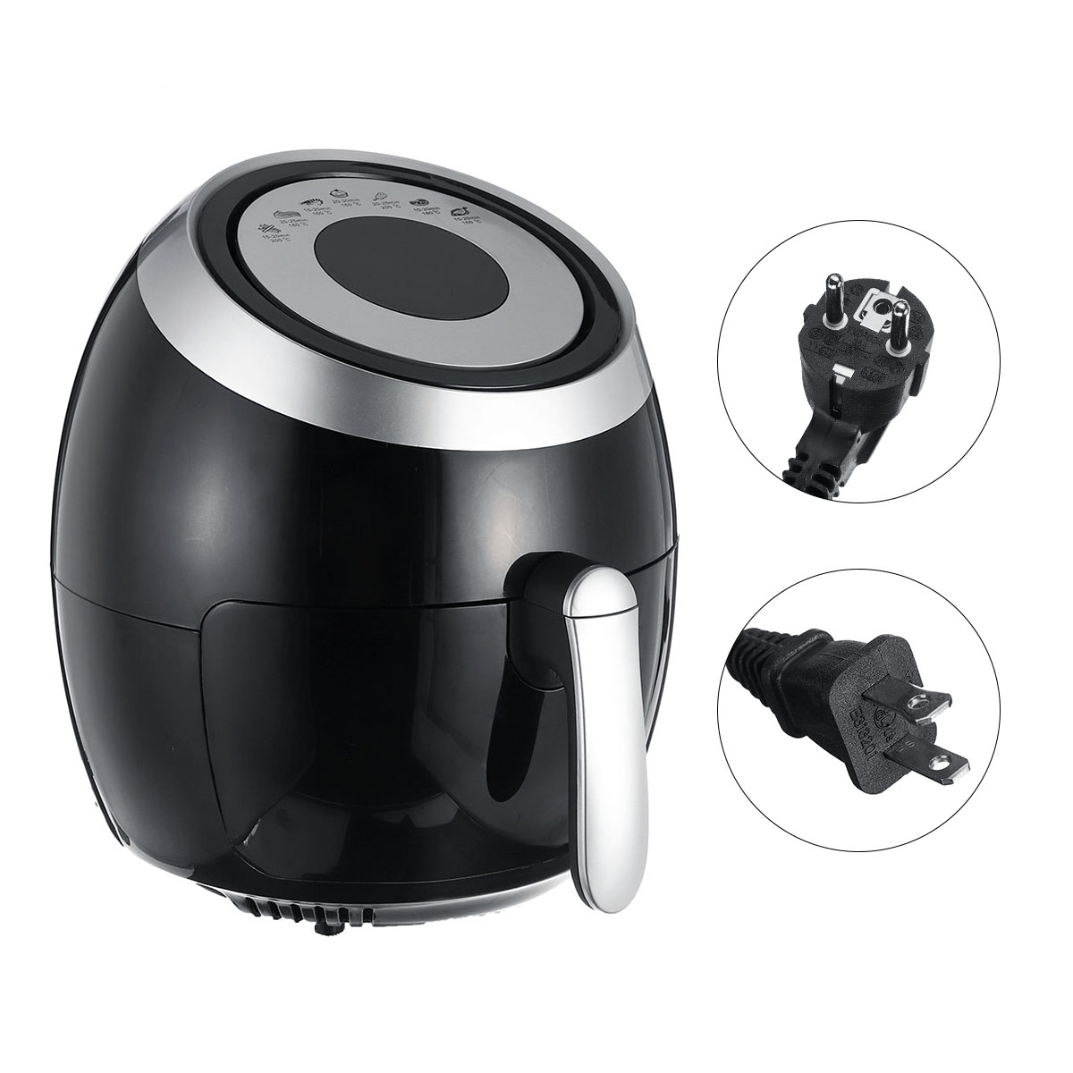 5.5L Electric Air Fryer Pan Chip Oil Free Oven Cooker Pot & Basket 1500W Home