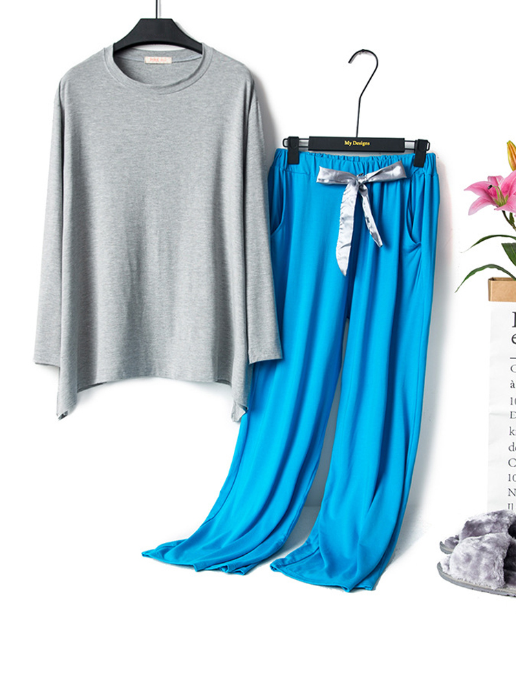 Long Sleeve Modal Loose Elastic Leisure Pajama Set