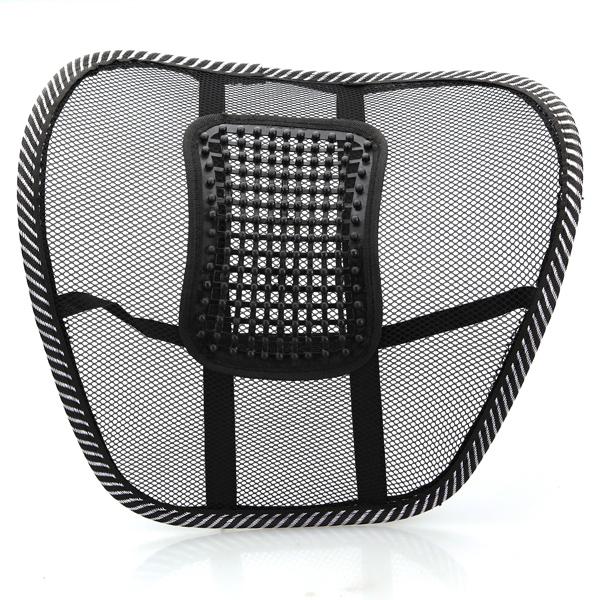 Car Seat Chair Massage Back Lumbar Support Mesh Ventilate Cushion Pad