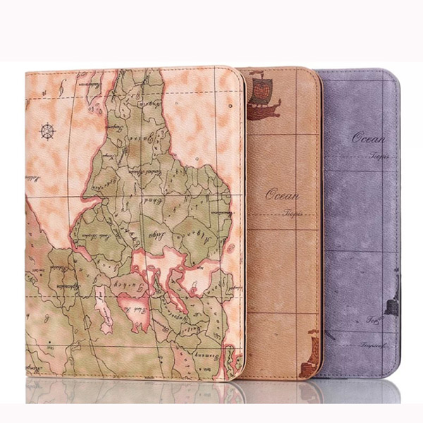 Map Design Folding Stand Case Cover For Samsung G