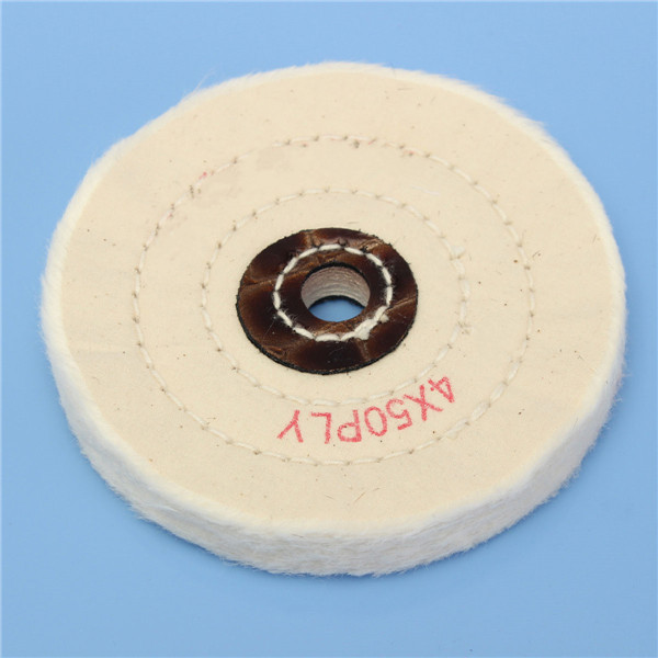 4 Inch Round Felt Wool 1/2 inch Arbor Buffer Polisher Buffing Polishing Wheel