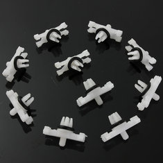 10xCar Roof Rain Gutter Moulding Trims Fastener Clips For BMW E46