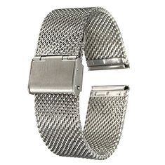 18mm 20mm 22mm Unisex Stainless Steel Chainmail Watch Strap Band