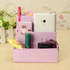 DIY Paper Board Storage Box Stationery Makeup Cosmetic Organizer